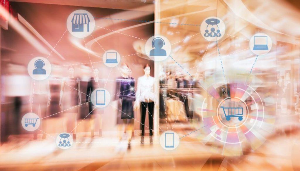 Marketing Data mangement platform and Omnichannel concept image.