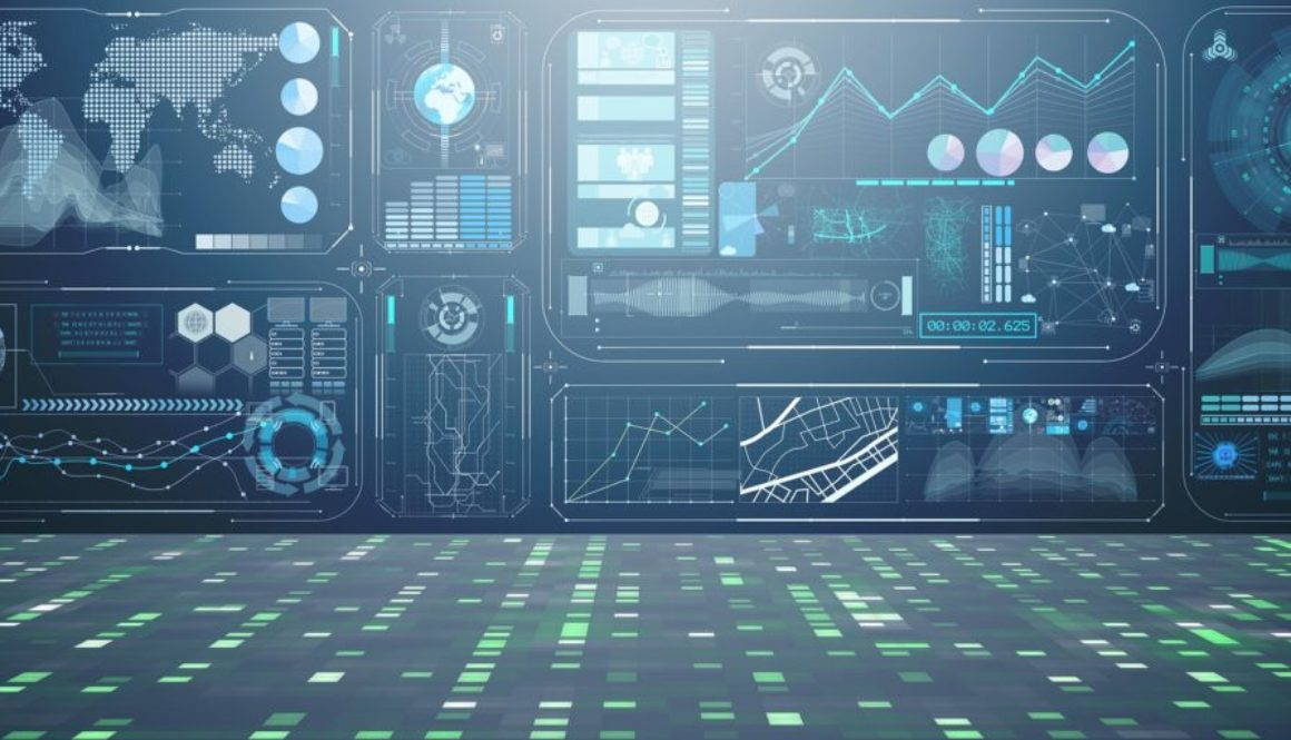 Abstract data room with futuristic design - 3d rendering - Consentric Marketing