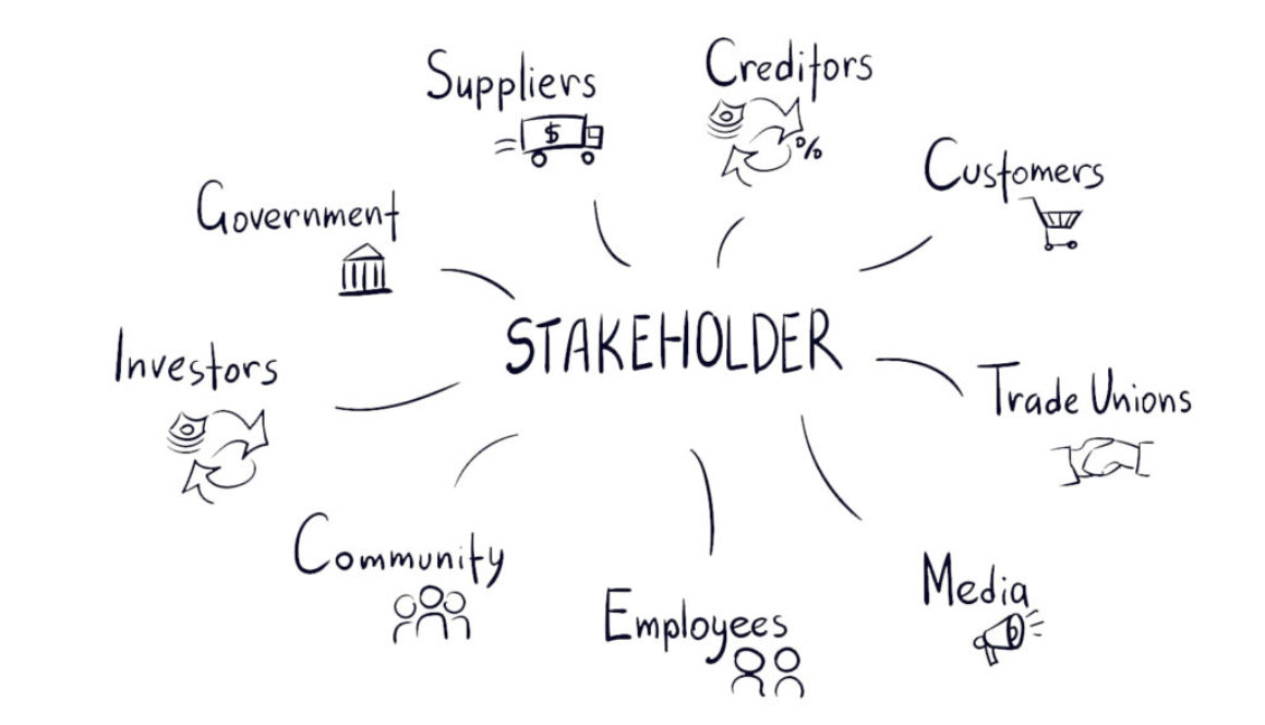 stakeholder vector sketch hand drawn illustration line